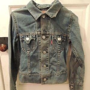 vintage retro Levi's jean jacket small